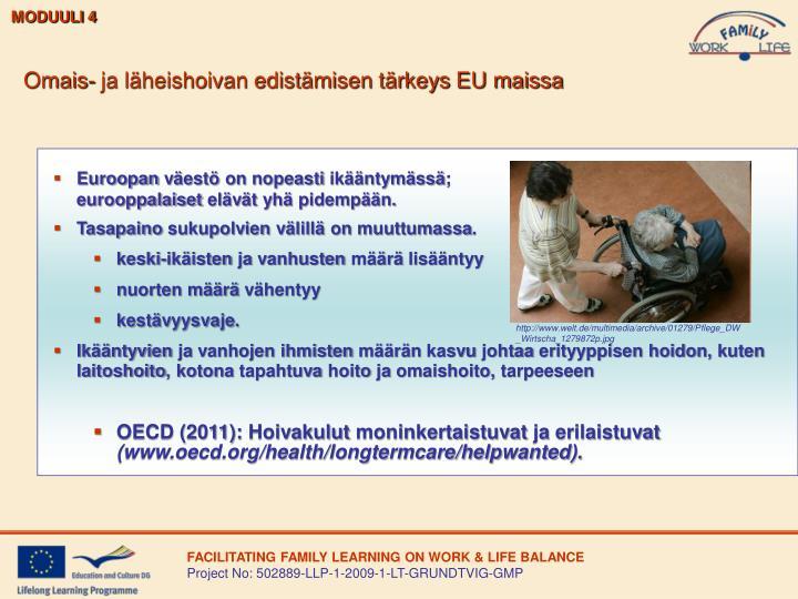 Omais- ja läheishoivan edistämisen tärkeys EU maissa