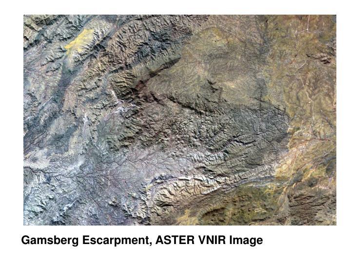 Gamsberg Escarpment, ASTER VNIR Image
