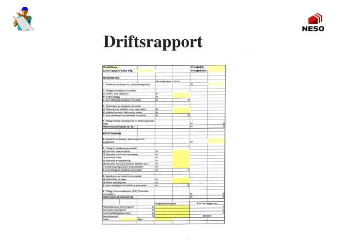 Driftsrapport