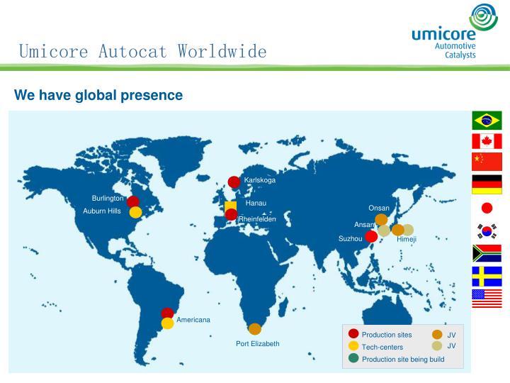 Umicore Autocat Worldwide