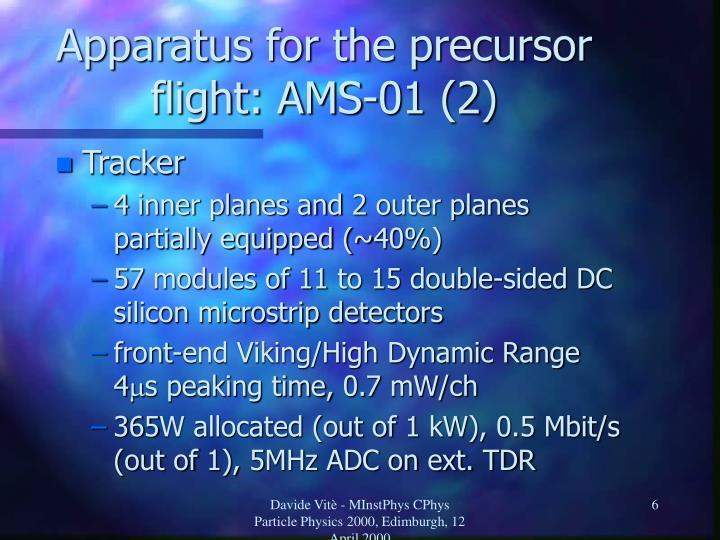 Apparatus for the precursor flight: AMS-01 (2)