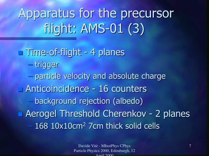 Apparatus for the precursor flight: AMS-01 (3)