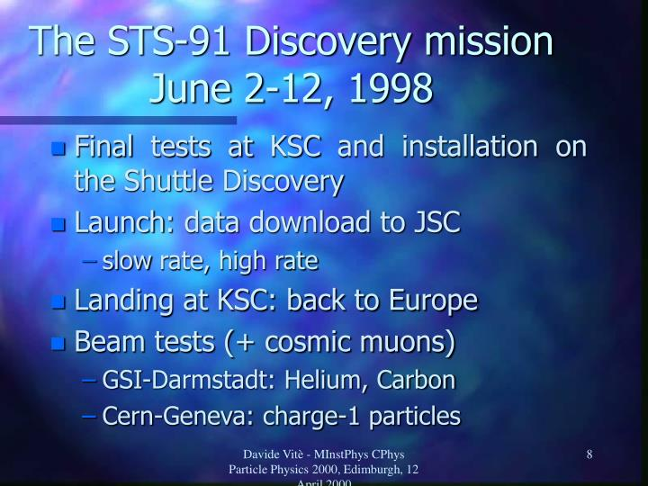 The STS-91 Discovery mission