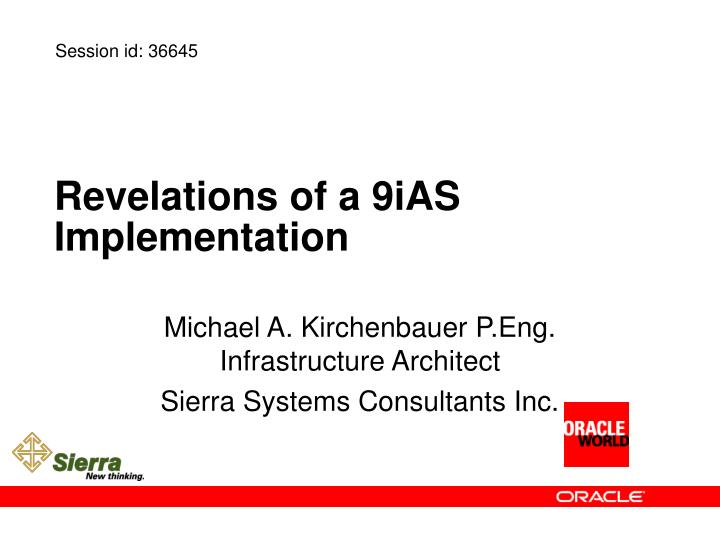Revelations of a 9ias implementation