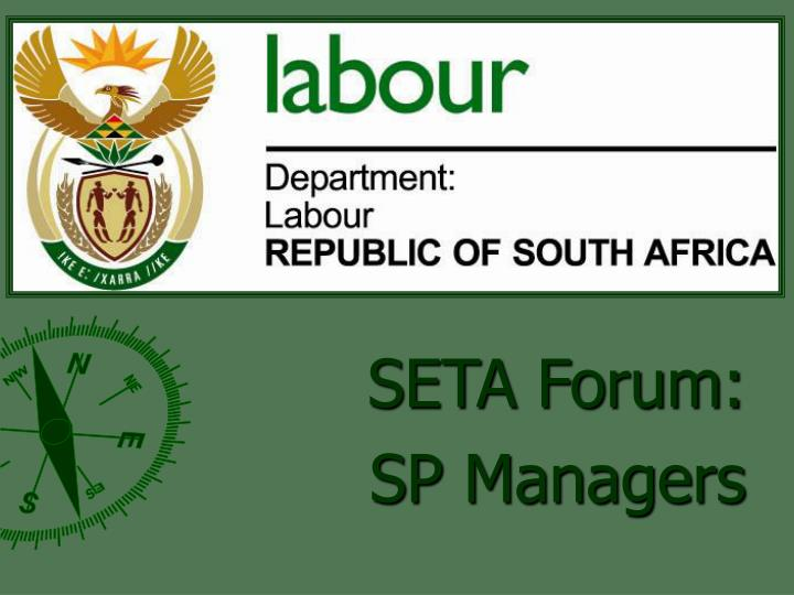 Seta forum sp managers