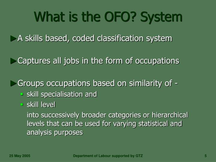 What is the OFO? System