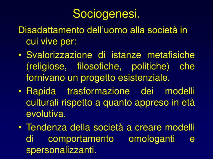 Sociogenesi.