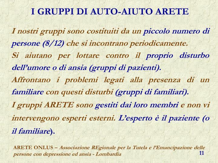 I GRUPPI DI AUTO-AIUTO ARETE