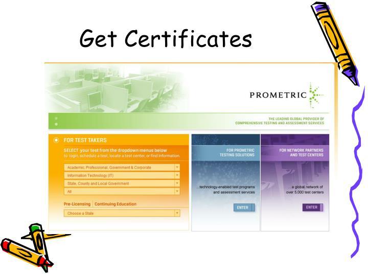 Get Certificates