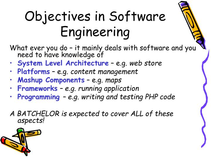 Objectives in software engineering