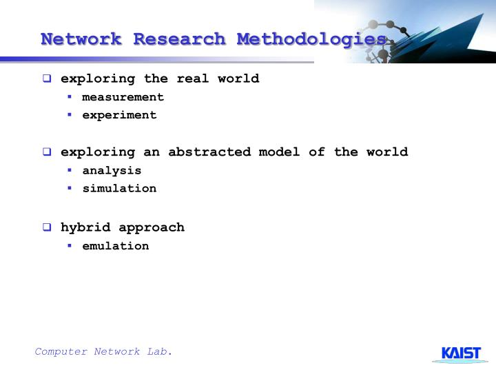 Network research methodologies