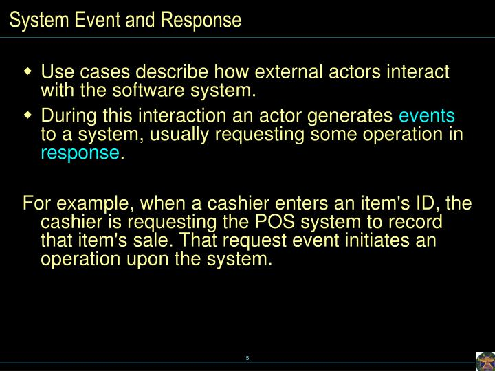 System Event and Response