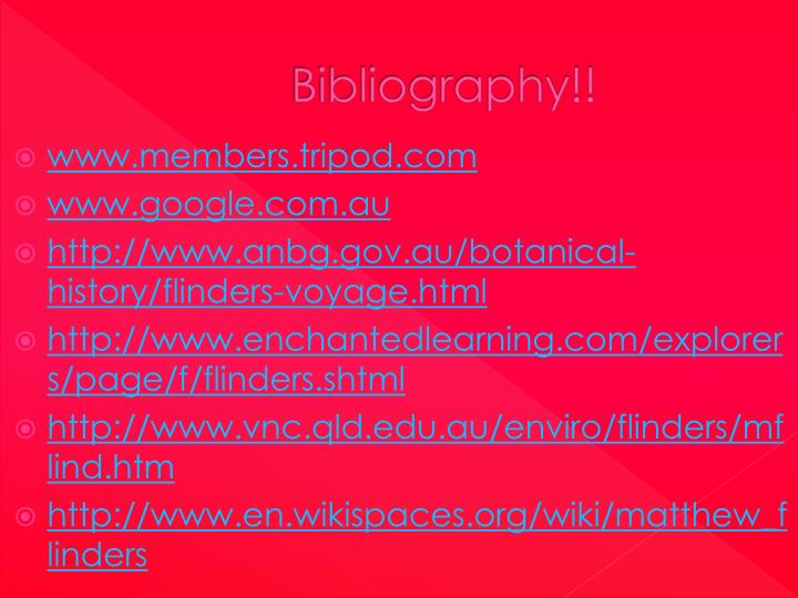 Bibliography!!