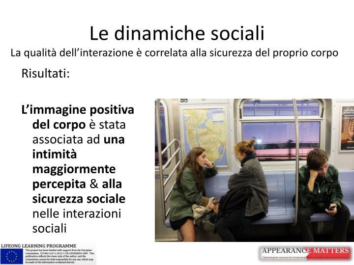 Le dinamiche sociali