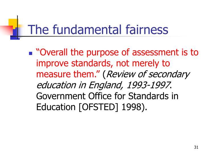 The fundamental fairness