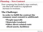 planning new contract