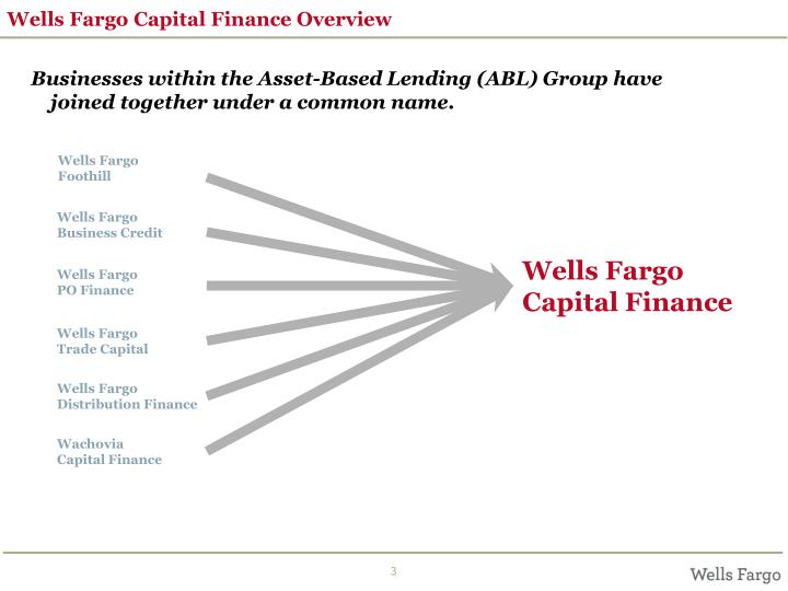 Wells Fargo Capital Finance Overview