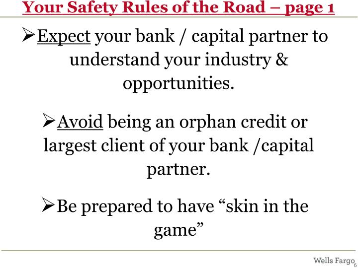 Your Safety Rules of the Road – page 1