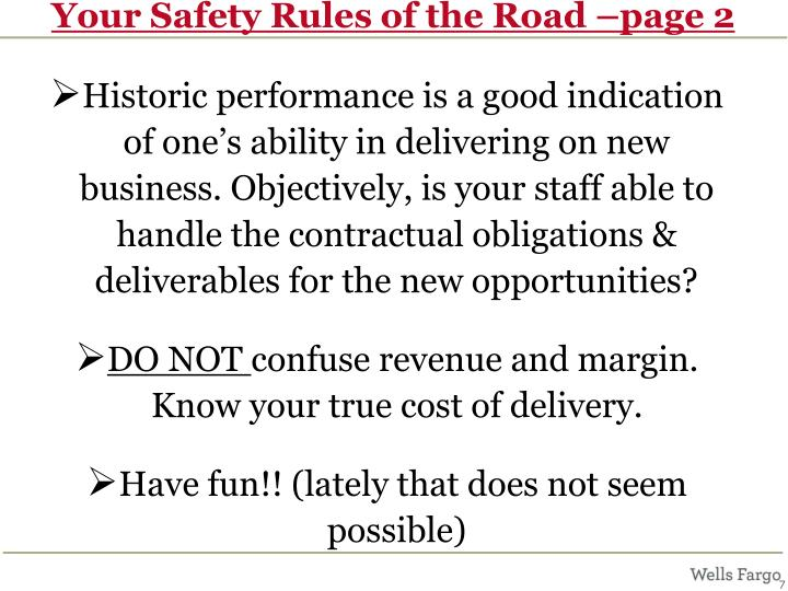 Your Safety Rules of the Road –page 2