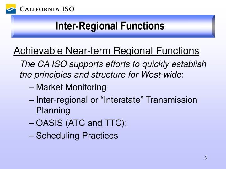 Inter-Regional Functions