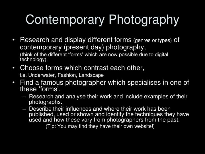 Contemporary Photography