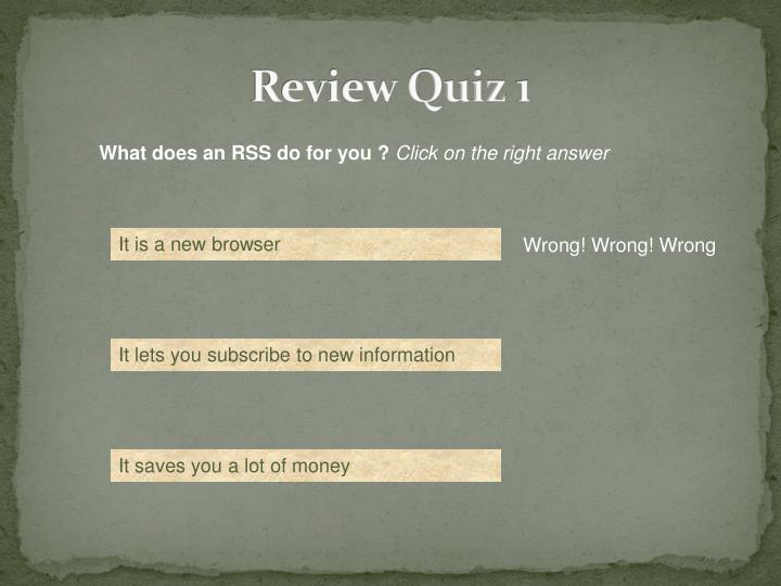 Review Quiz 1