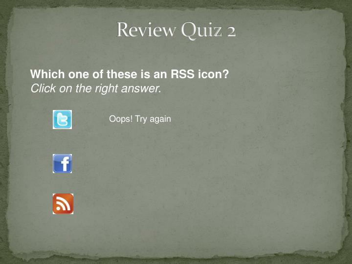Review Quiz 2