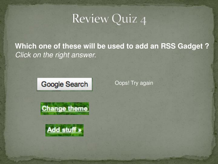 Review Quiz 4