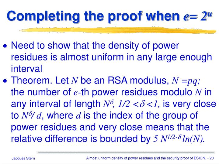 Completing the proof when