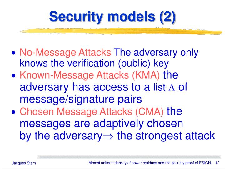 Security models (2)
