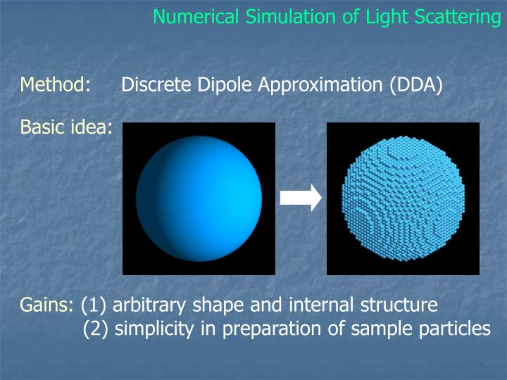 Numerical Simulation of Light Scattering