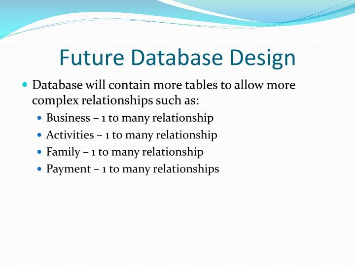 Future Database Design