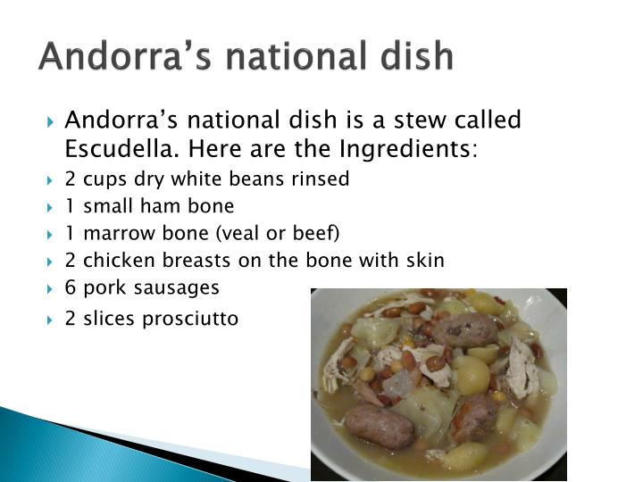 Andorra's national dish