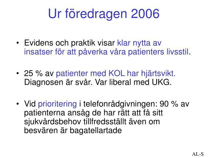Ur föredragen 2006