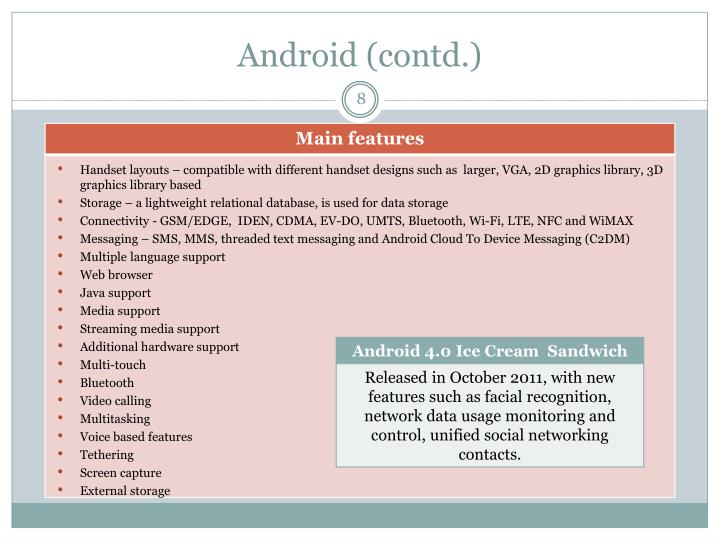 Android (contd.)