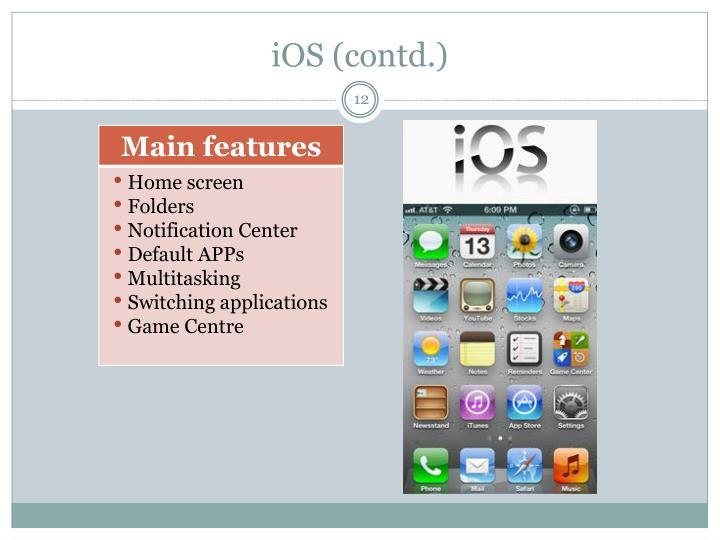 iOS (contd.)