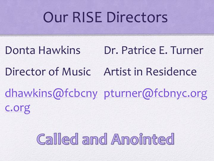 Our rise directors