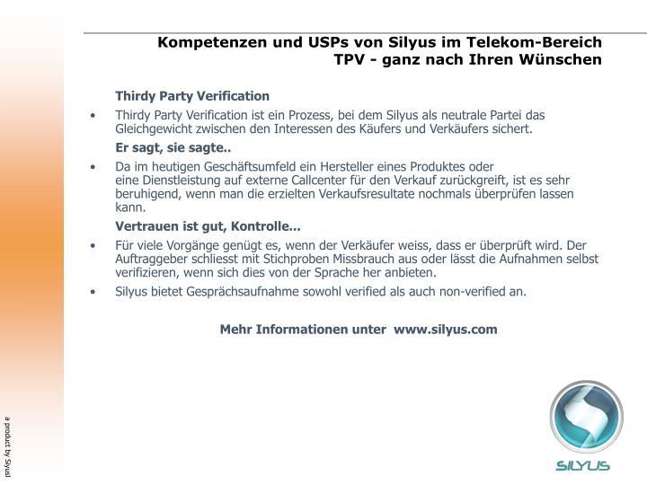 Kompetenzen und USPs von Silyus im Telekom-Bereich