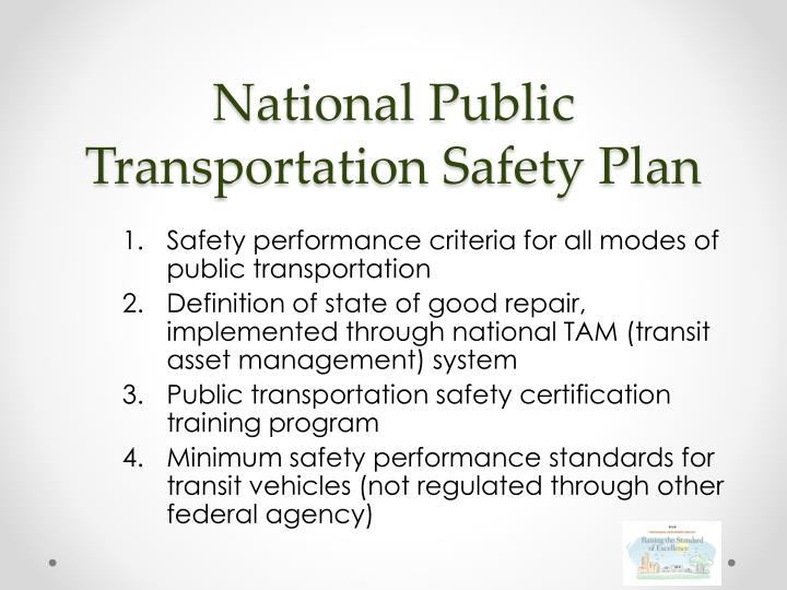 National public transportation safety plan