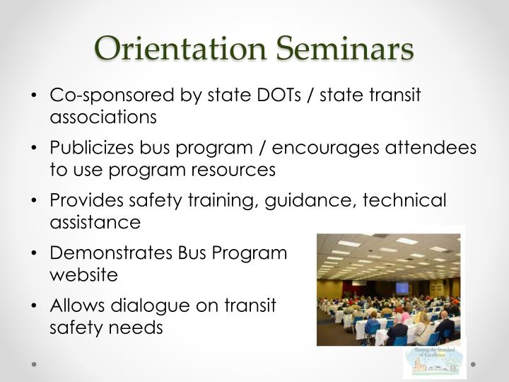 Orientation Seminars