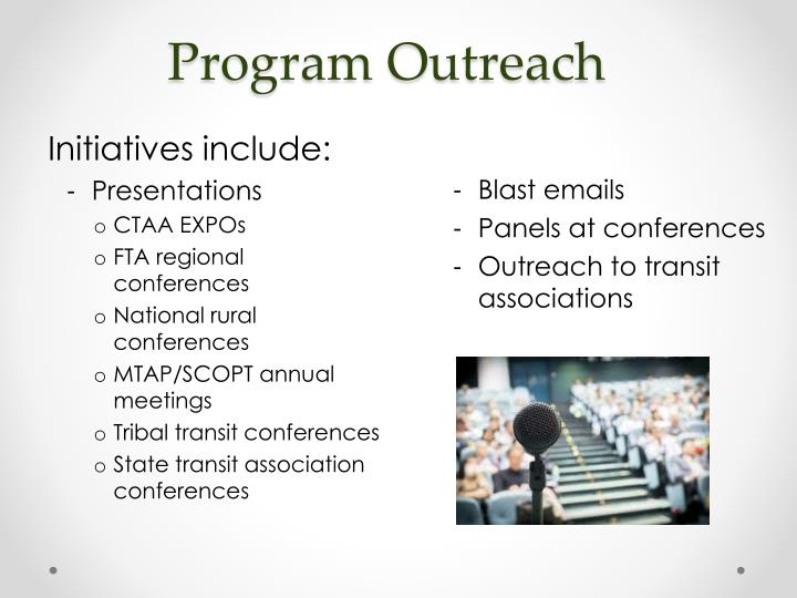 Program Outreach