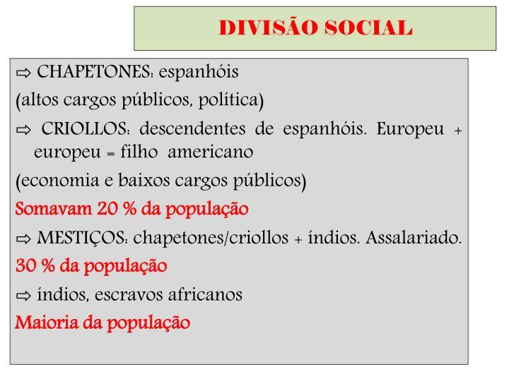 DIVISÃO SOCIAL