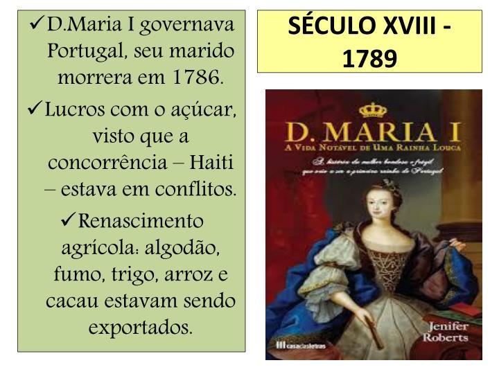 SÉCULO XVIII - 1789