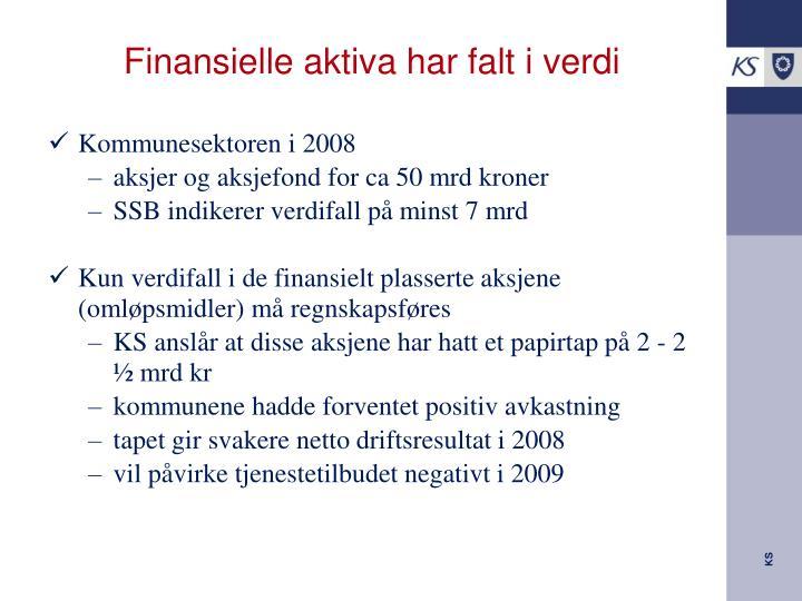 Finansielle aktiva har falt i verdi