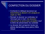 confection du dossier
