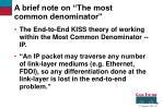 a brief note on the most common denominator