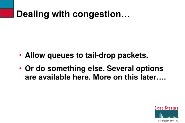 Dealing with congestion…