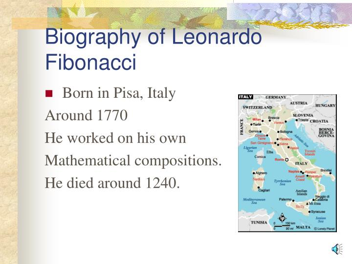 Biography of Leonardo           Fibonacci