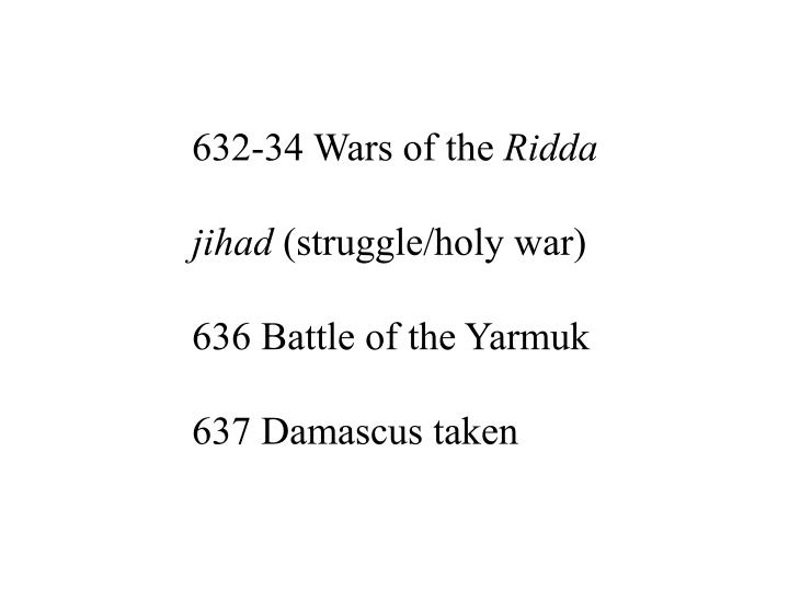 632-34 Wars of the