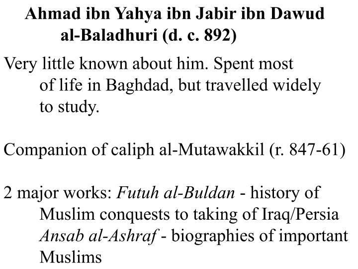 Ahmad ibn Yahya ibn Jabir ibn Dawud